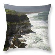 Heavy Surf On The Irish Coast Throw Pillow