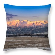 Heber Valley Sunrise Throw Pillow