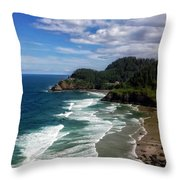 Heceta Head Throw Pillow by Darren  White