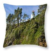 Heceta Head Lighthouse 1 A Throw Pillow