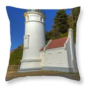 Heceta Head Lighthouse 1 C Throw Pillow