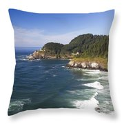 Heceta Head Lighthouse 2 A Throw Pillow