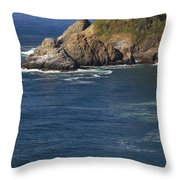 Heceta Head Lighthouse 2 D Throw Pillow