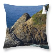 Heceta Head Lighthouse 2 F Throw Pillow
