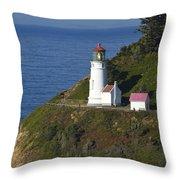 Heceta Head Lighthouse 2 G Throw Pillow