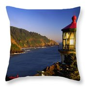 Heceta Head Moonrise Throw Pillow