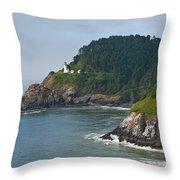 Heceta Head Overlooking The Pacific Ocean Throw Pillow