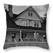 Heceta Keeper's House Throw Pillow