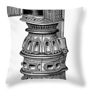 Hecla Oven Stove, 1875 Throw Pillow