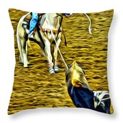 Heeled Steer Throw Pillow