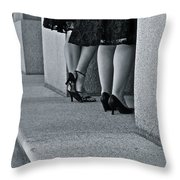 Heels And Lace Throw Pillow