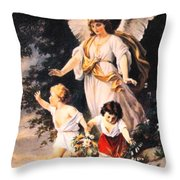 Heiliger Schutzengel  Guardian Angel 6 Pastel Throw Pillow
