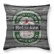 Heineken Throw Pillow