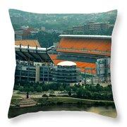 Heinz Field Panorama Throw Pillow
