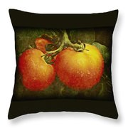 Heirloom Tomatoes On The Vine Throw Pillow