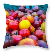 Heirloom Tomatoes V. 2.0 Throw Pillow