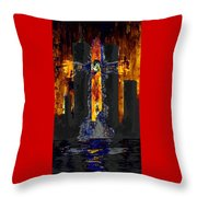 Held Before 9-11 Fire Sky Throw Pillow
