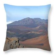 Heleakala Volcano In Maui Throw Pillow
