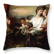 Helen Brought To Paris Throw Pillow