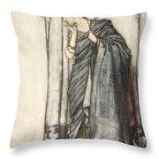 Helena, Illustration From Midsummer Throw Pillow