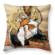Helene #13 - Figure Series Throw Pillow