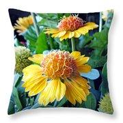 Helenium Flowers 1 Throw Pillow