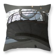 Helical Staircase Throw Pillow