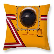 Helicopter Porthole Window Mirrors Rotor Blade Throw Pillow