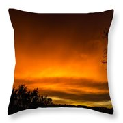 Hell Above Throw Pillow by Jeffrey Teeselink