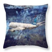 Hell Of A Flight Throw Pillow