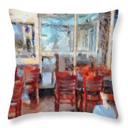 Hellas Restaurant And Bakery  Throw Pillow by L Wright