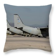 Hellenic Air Force C-27j Spartan Throw Pillow