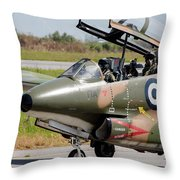 Hellenic Air Force Pilots Sitting Throw Pillow