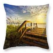 Hello Morning Throw Pillow