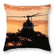 Hello Tree Throw Pillow