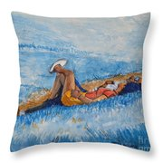 Hello Young Lovers In Blue Throw Pillow