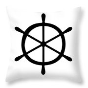 Helm In Black And White Throw Pillow