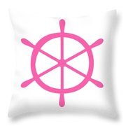 Helm In Pink And White Throw Pillow