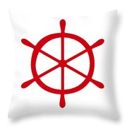 Helm In Red And White Throw Pillow