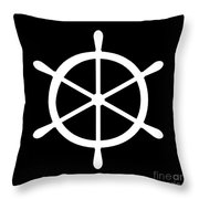 Helm In White And Black Throw Pillow