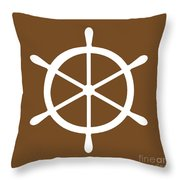 Helm In White And Brown Throw Pillow