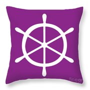 Helm In White And Purple Throw Pillow
