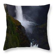 Helmcken Falls 3 Throw Pillow