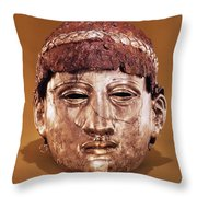 Helmet In Two Parts Iron Throw Pillow