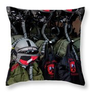 Helmets And Flight Gear Of Hellenic Air Throw Pillow