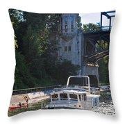 Helmsman 37 Yacht Throw Pillow