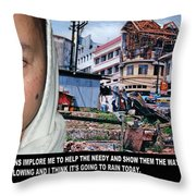 Help The Needy And Show Them The Way Throw Pillow