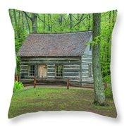 Helser Log House Throw Pillow