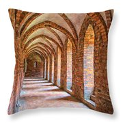 Helsingor Monastery Painting Throw Pillow