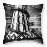 Helter Skelter Mono Throw Pillow